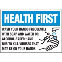 Wash Hands Frequently Label