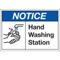 Hand Washing Station Label