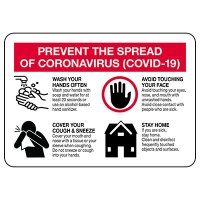 Prevent the Spread of COVID-19 Signs