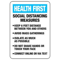 Social Distancing Measures Sign