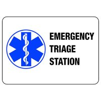 Emergency Triage Station Sign