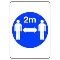 Two Meter Social Distancing Symbol Sign