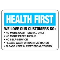 Health First Signs - We Love Our Customers