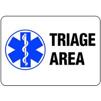 Triage Area Sign
