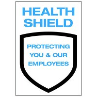 Health Shield Protecting You and Your Employees Decal