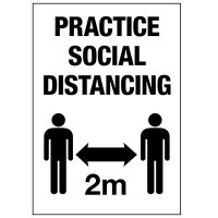 Practice Social Distancing 2M Decal