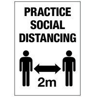 Practice Social Distancing 2M Label