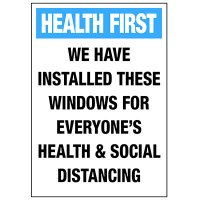 Social Distancing Windows Installed Decal