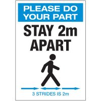 Stay 2M Apart 3 Strides Portrait Decal
