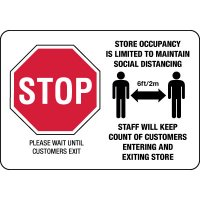 Store Occupancy Limited Social Distancing Sign