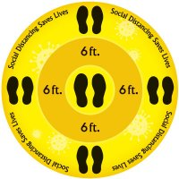 Temporary Floor Markers - Social Distancing Saves Lives