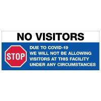 COVID-19 Banners - No Visitors