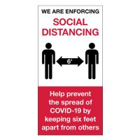 Temporary Social Distance Floor Signs - Enforcing Social Distancing