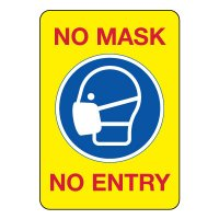 COVID-19 Signs - No Mask No Entry