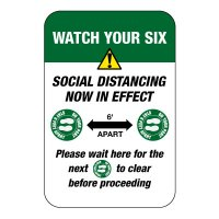 Social Distancing Now in Effect Sign