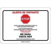 Alerta De Visitante Coronavirus Sign