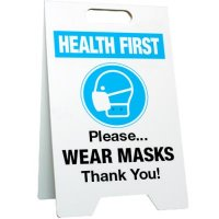 Please Wear Masks Floor Stand
