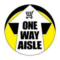 Floor Safety Signs - One Way Aisle