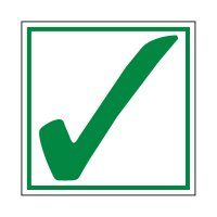 Green Check Mark Label