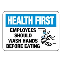 Health First Employees Should Wash Hands Sign