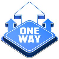 3D Floor Marker - One Way - Blue