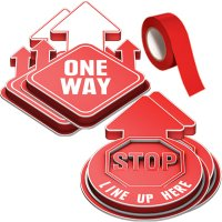 3D Social Distancing Label Kit for Hallways - Red