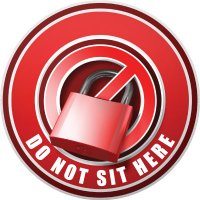 3D Bus Decals - Do Not Sit Here - Red