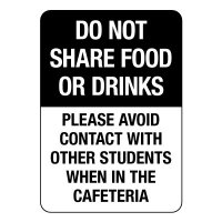 Do Not Share Food or Drinks Sign