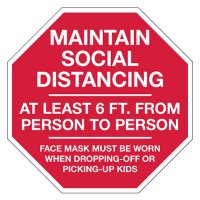 Maintain Social Distancing Stop Sign