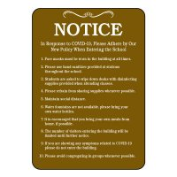 Notice COVID-19 School Policy Sign