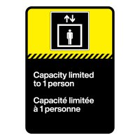 Bilingual CSA Sign - Capacity Limited to One Person