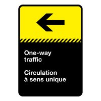 Bilingual CSA Sign - One way Traffic (Left)