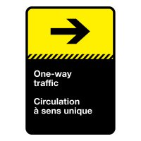 Bilingual CSA Sign - One way Traffic (Right)