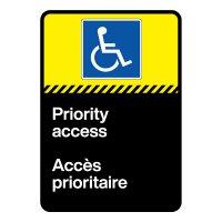 Bilingual CSA Sign - Priority Access