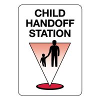 Child Handoff Station Sign