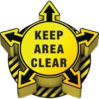 3D Floor Marker - Keep Area Clear