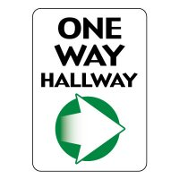 One Way Hallway Sign (Right Arrow)