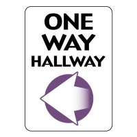 One Way Hallway Sign (Left Arrow)