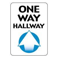 One Way Hallway Sign (Up Arrow)