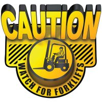 3D Floor Marker - Watch For Forklifts