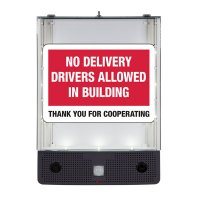 Seton Safety Sign Alerter Kit - No Delivery Drivers Allowed Inside