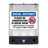 Seton Safety Sign Alerter Kit - Social Distance Please No Congregating