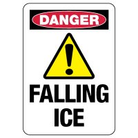 OSHA Danger Sign: Falling Ice