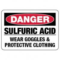 Danger Sign: Sulfuric Acid