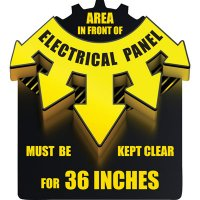 3D Floor Marker - Electrical Panel Clearance