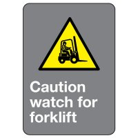 CSA Safety Sign - Caution Watch For Forklift