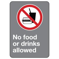 CSA Safety Sign - No Food Or Drinks Allowed