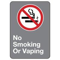 CSA Safety Sign - No Smoking or Vaping