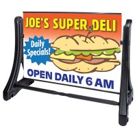 Swinger Plus Large Rolling Sidewalk Sign Panel & Frame