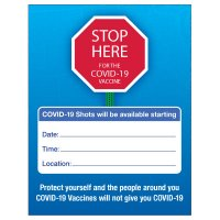 Stop Here For COVID-19 Vaccine Poster